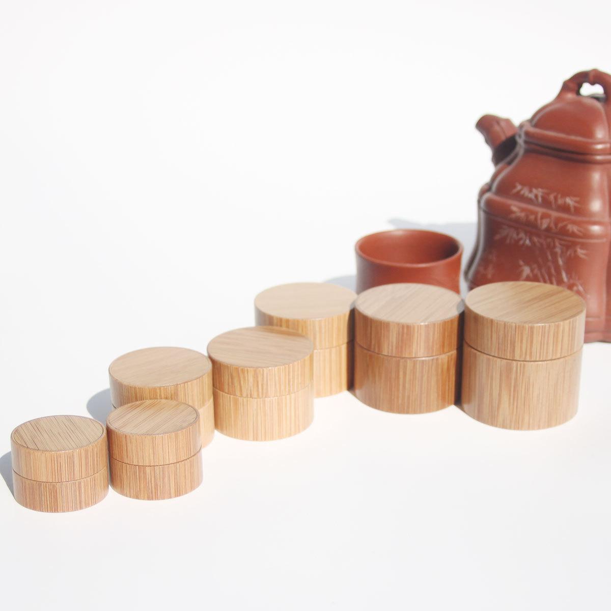 竹制膏霜瓶旅行套装产品主图