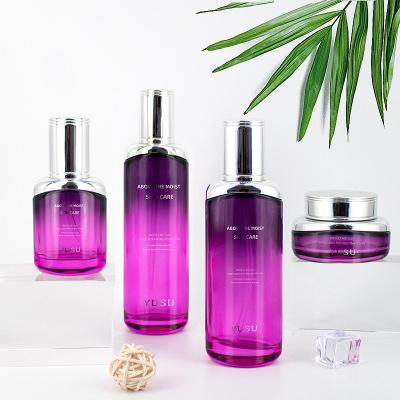 化妆品玻璃护肤套装瓶