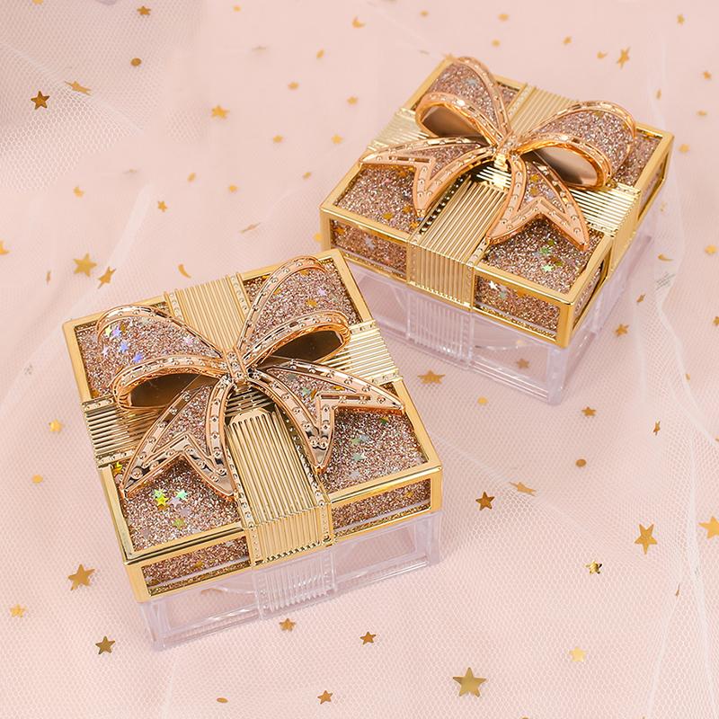 蝴蝶结散粉蜜粉盒